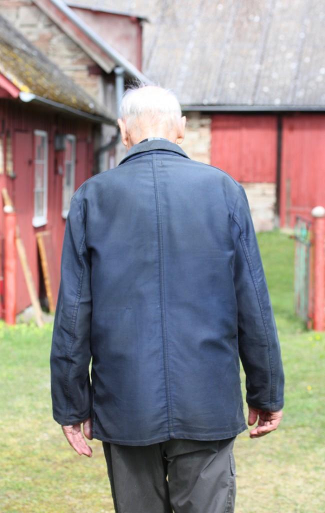 David vid sin gård