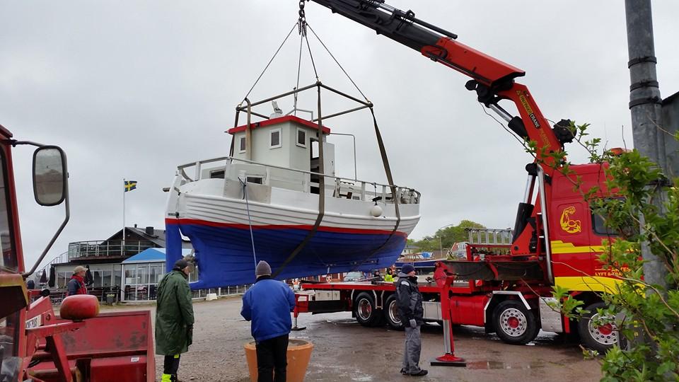 Sjösättning i Sandvik