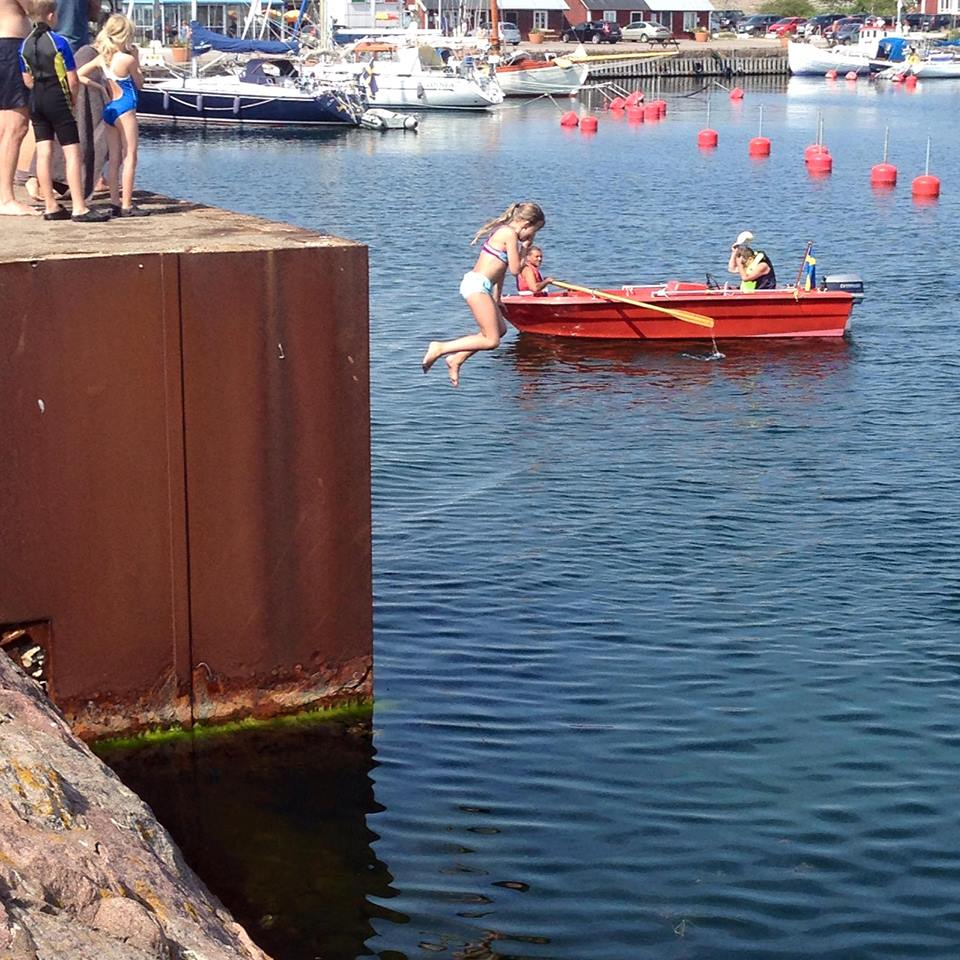 Badpiren i Sandviks Hamn