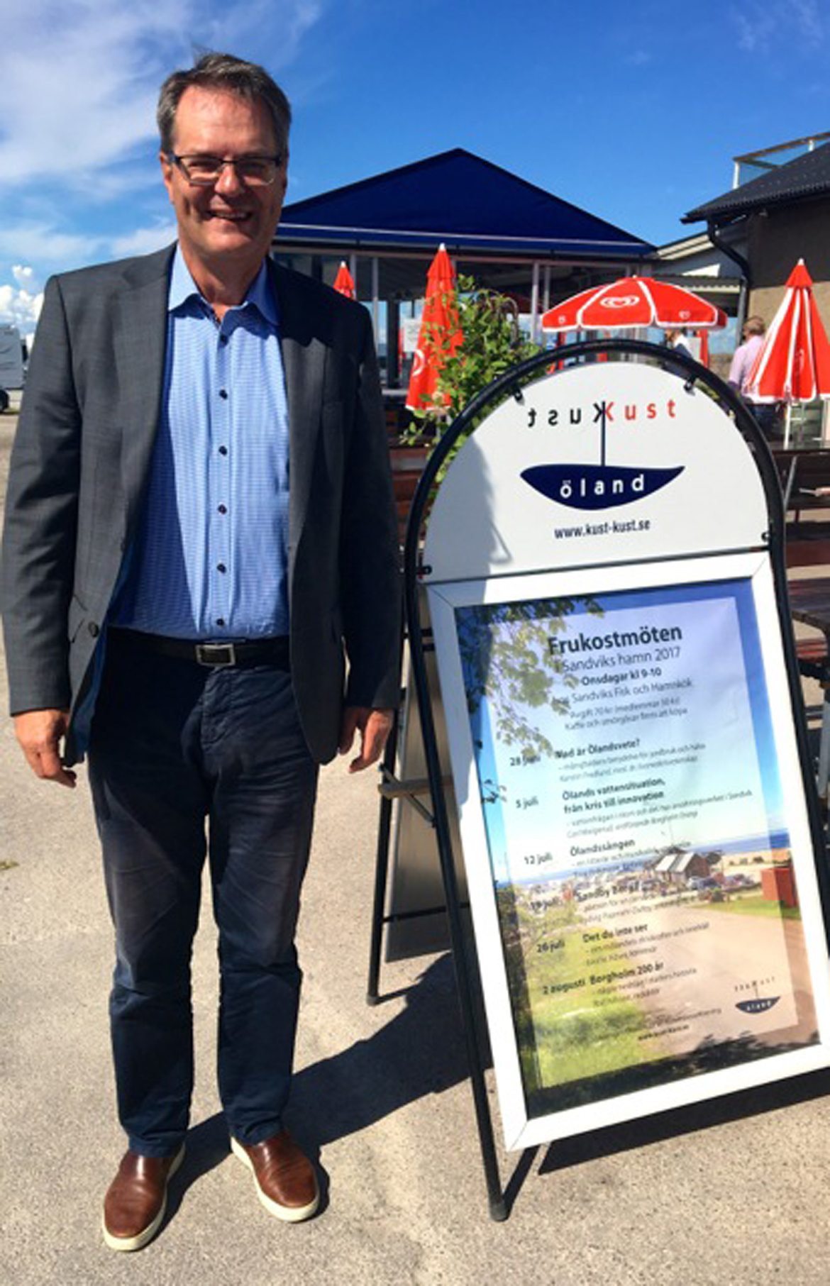 Frukostmöte i Sandvik med Carl Malgerud