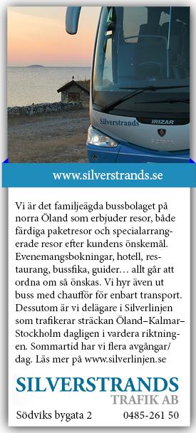 Silverstrands Trafik - Öland - Stockholm - Öland