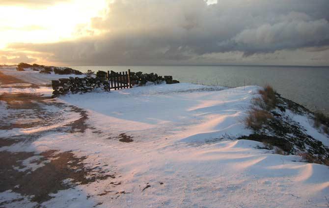 Ölands nordvästra kust vinter