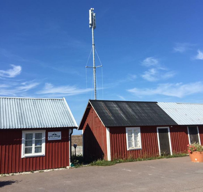 Telemast klar i Sandvik