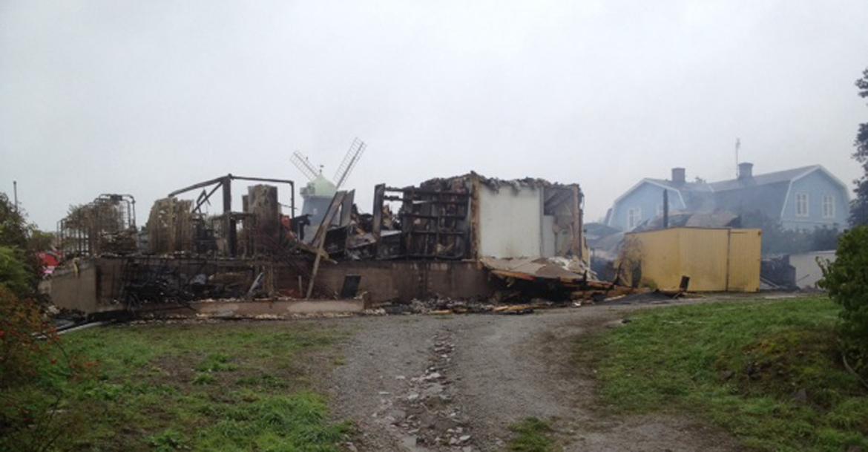 ICA Nära Trossen dagen efter branden
